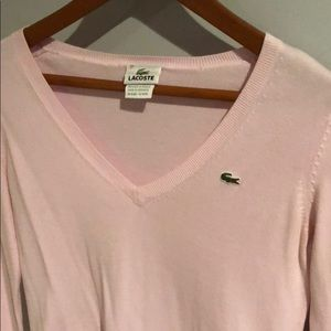 Lacoste light pink sweater